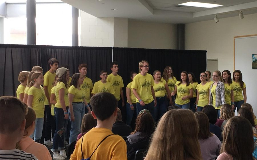 The Axidentals performed at the Kettering National A Cappella festival in November.  Photo Contributed by: Jeremy Storost