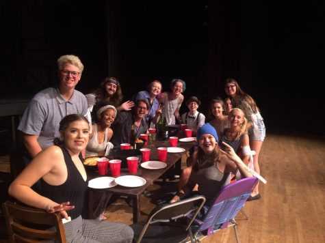 The Last Supper: Pictured are youth performers mid-show during a rehearsal for Dare2Inspires summer production of Jesus Christ Superstar.