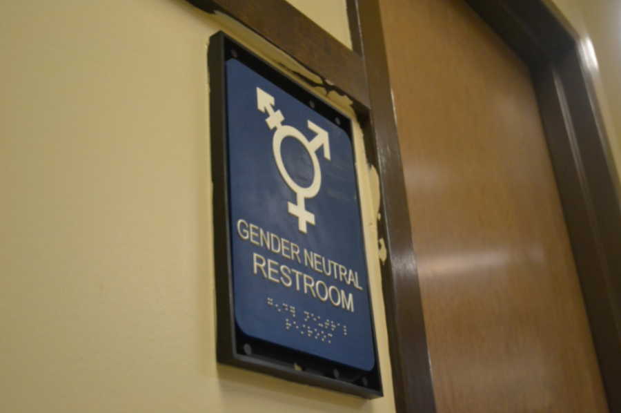 Rest stop: Located in the middle of the freshman hallway is the gender-neutral bathroom that was installed at the beginning of the year.