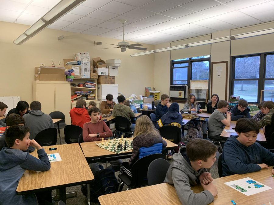 Be Bold: Students in John Loomis's room played games, attending the first ever Be Bold day Feb. 5 to endorse doing positive things and living their lives drug free.