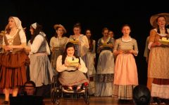 Cinderella moment: Ally Moran (12) performs in the impromptu peformance of